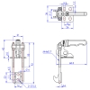 GH-40820 Model of Pull Action Latch Clamps Vertical Versions