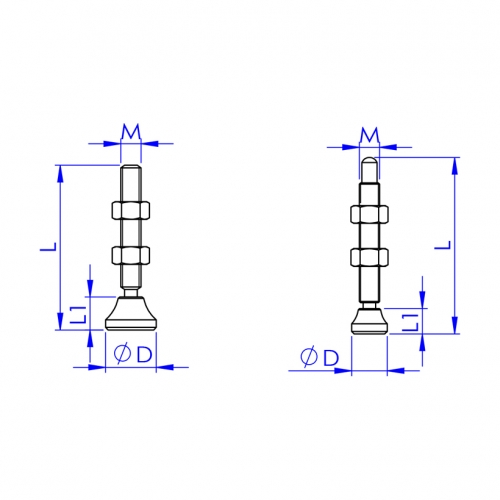 Swivel Foot Spindles