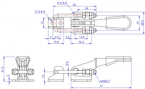 GH-40323 Model of Pull Action Latch Clamps